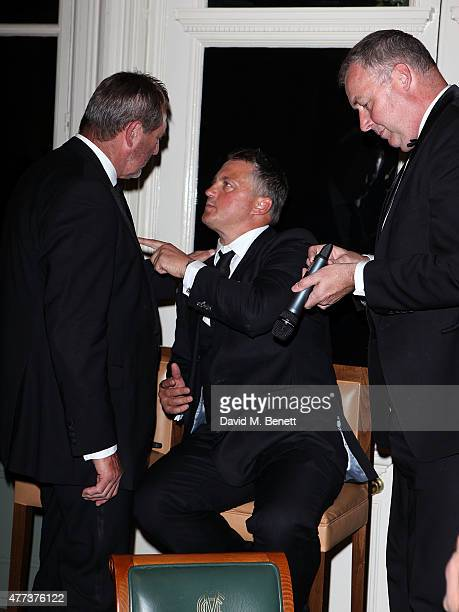Graham Gooch Darren Gough and Angus Fraser attend the I CAN Gala Dinner in aid of The Million Lost Voices appeal at Lord's Cricket Ground on June 16...