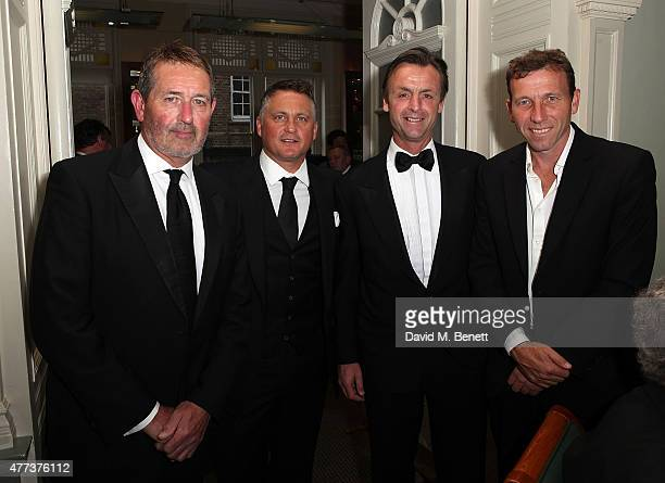 Graham Gooch Darren Gough John Stephenson and Michael Atherton attend the I CAN Gala Dinner in aid of The Million Lost Voices appeal at Lord's...