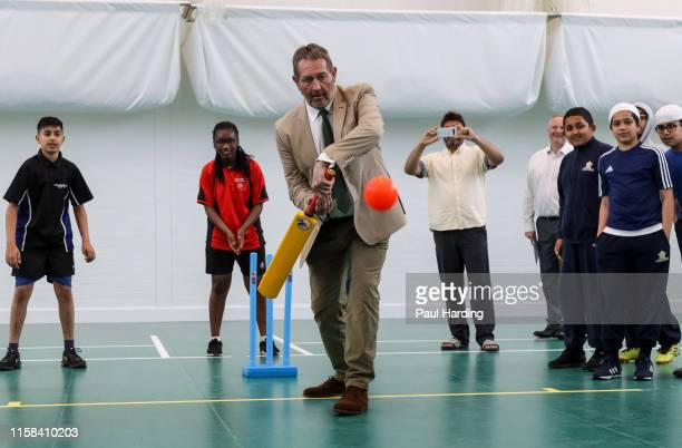 Graham Gooch during the opening of a new urban cricket centre at Leyton Cricket Ground on June 26, 2019 in London, England.