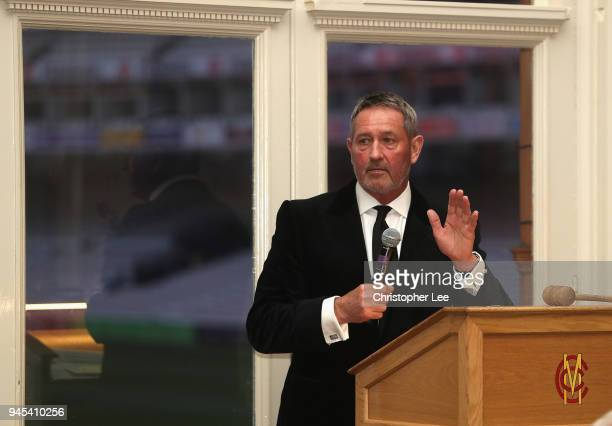 Graham Gooch during the PCA Long Room Dinner at Lord's Cricket Ground on April 12 2018 in London England