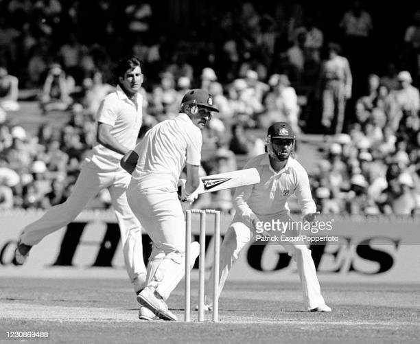 Graham Gooch of England batting during his innings of 51 runs in the 3rd Test match between Australia and England at the MCG, Melbourne, Australia,...