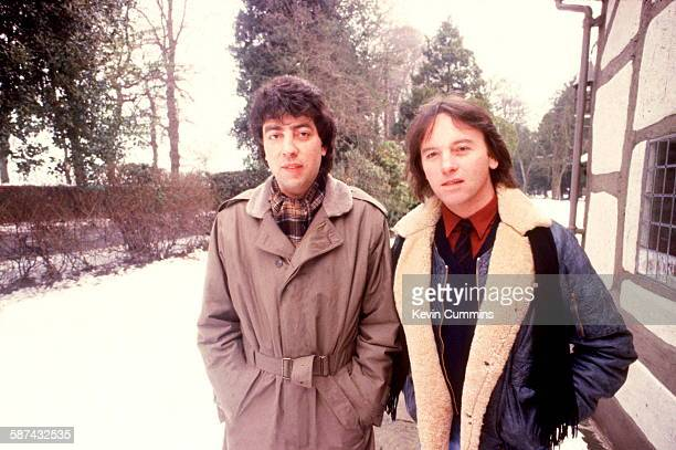 Graham Gouldman and Eric Stewart of English rock band 10cc circa 1981