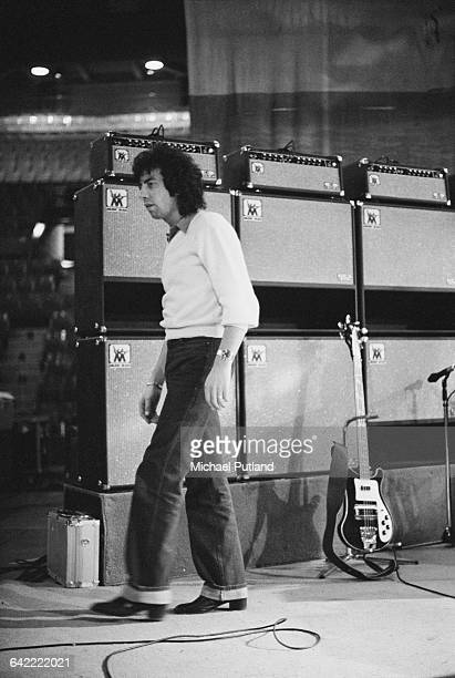 Graham Gouldman of English rock band 10cc at a concert on the band's world tour USA November 1978