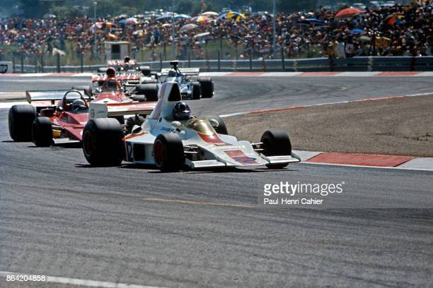 Graham Hill Arturo Merzario Niki Lauda ShadowFord DN1 Grand Prix of France Circuit Paul Ricard 01 July 1973