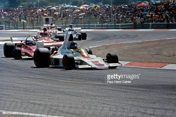 Graham Hill Arturo Merzario Niki Lauda ShadowFord DN1 Grand Prix of France Circuit Paul Ricard 01 July 1973