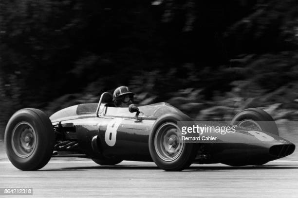 Graham Hill BRM P57 Grand Prix of France RouenLesEssarts 08 July 1962