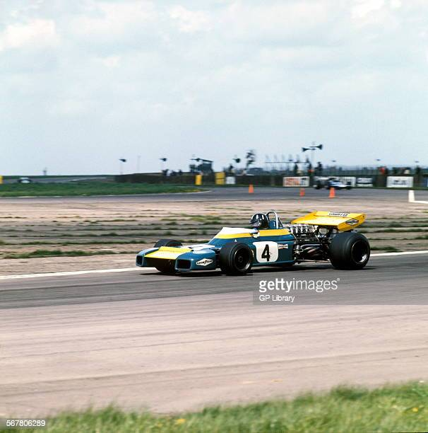 Graham Hill in a Brabham BT34Cosworth Lobster Claw winning the XXIII BRDC GKN Daily Express International Trophy at Silverstone England 8 May 1971