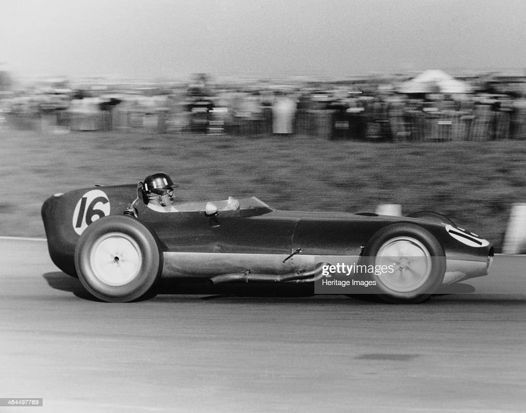 Graham Hill in a Lotus Climax, Aintree 200, Liverpool, 18 April 1959. Artist: Maxwell Boyd : News Photo