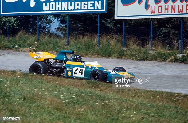 Graham Hill in his Brabham lobster claw BT34 German GP Nurburgring 1 August 1971