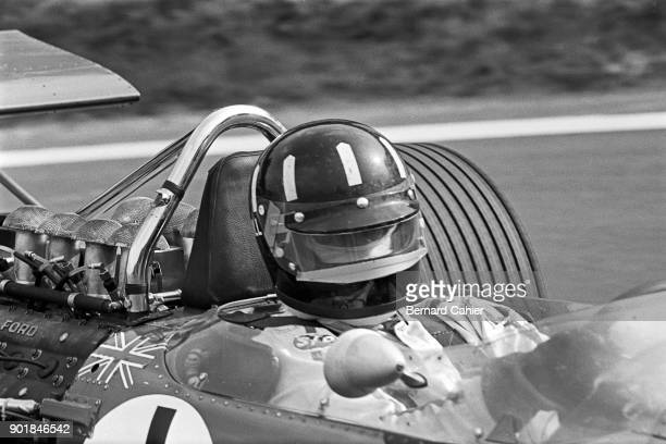 Graham Hill, Lotus-Ford 49B, Grand Prix of France, Charade Circuit, 06 July 1969.