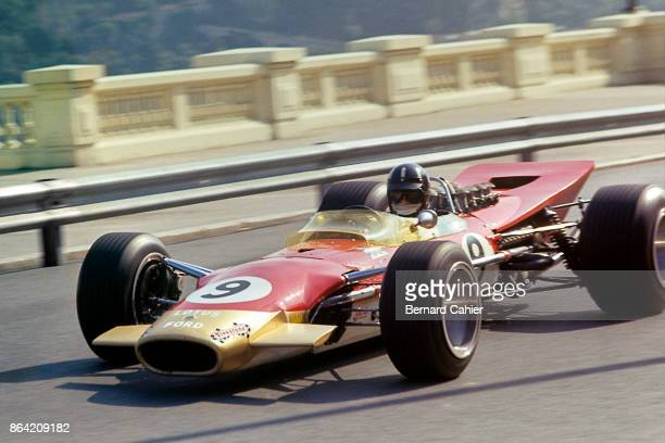 Graham Hill, Lotus-Ford 49B, Grand Prix of Monaco, Circuit de Monaco, 26 May 1968. Graham Hill at the wheel of his Lotus 49B on his way to a fourth...