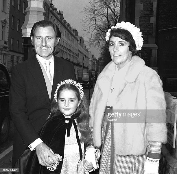 Graham Hill Obe Racing Driver and Company Director Consultant to GKN Ltd With his wife and daughter