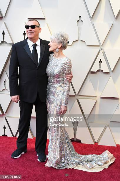 Graham King and Anita Dobson attends the 91st Annual Academy Awards at Hollywood and Highland on February 24 2019 in Hollywood California