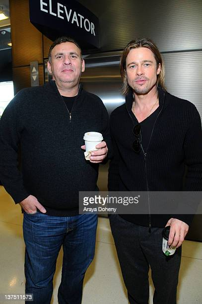Graham King and Brad Pitt attend the Variety's 2012 PGA Nominees Breakfast at Landmark Nuart Theatre on January 21 2012 in Los Angeles California