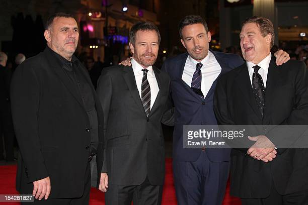 Graham King Bryan Cranston Ben Affleck and John Goodman arrive for the gala film premiere of 'Argo' during the 56th BFI London Film Festival at Odeon...