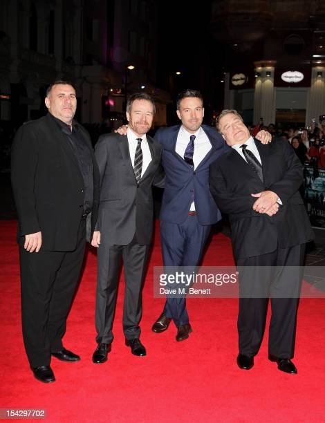 Graham King Bryan Cranston Ben Affleck and John Goodman attend the Gala Premiere of 'Argo' during the 56th BFI London Film Festival at Odeon...