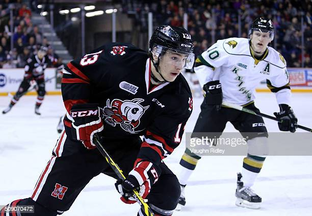 Graham Knott of the Niagara IceDogs skates during an OHL game against the London Knights at the Meridian Centre on February 6 2016 in St Catharines...