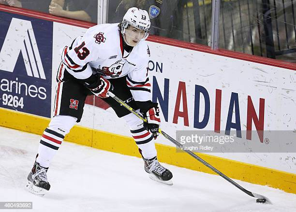 Graham Knott of the Niagara IceDogs skates during an OHL game between the Saginaw Spirit and the Niagara IceDogs at the Meridian Centre on December...