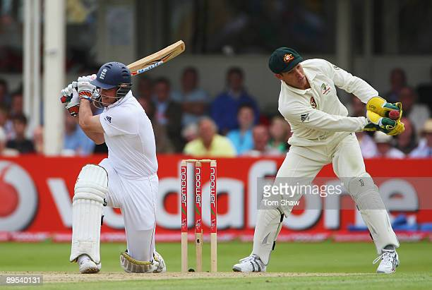 Graham Manou of Australia catches the ball after Andrew Strauss of England played and missed during day two of the npower 3rd Ashes Test Match...