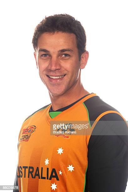 Graham Manou poses during the Australian World Twenty20 cricket team portrait session at the Hyatt Regency Coolum on May 25 2009 at the Sunshine...