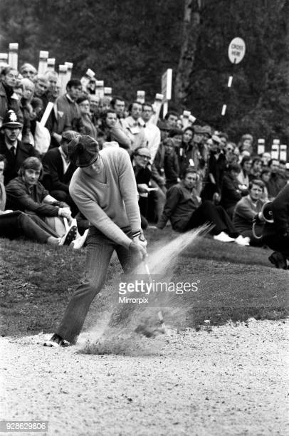 Graham Marsh playing golf in the Piccadilly World Match Play Championship, which he lost, 13th October 1973Graham Marsh playing golf in the...