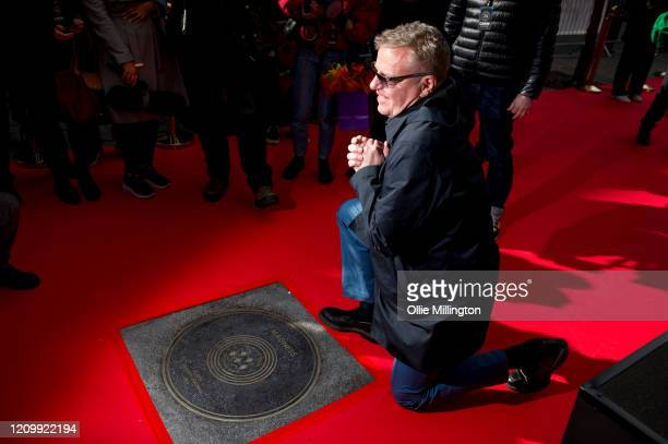 Graham McPherson aka Suggs of Madness during their Music Walk Of Fame stone unveiling the second stone to be placed on Camden Highstreet on March 02...