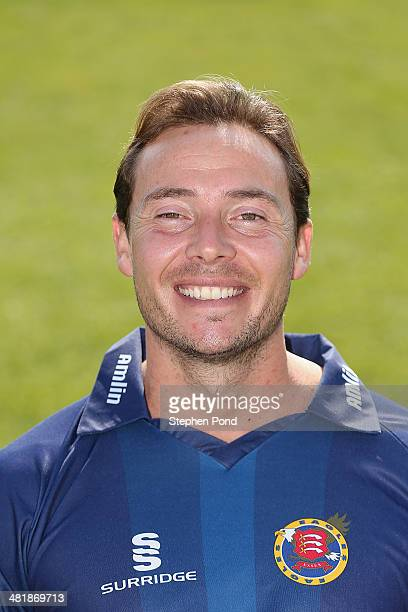 Graham Napier of Essex poses during the Essex County Cricket Club Photocall at the County Ground on April 1 2014 in Chelmsford England