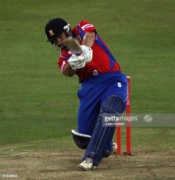 Graham Napier of The Essex Eagles bats during the Twenty20 Cup match between The Essex Eagles and Northants Steelbacks at The Ford County Ground on...
