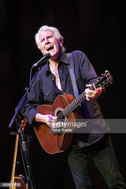 Graham Nash performs at Town Hall on May 22 2016 in Birmingham England