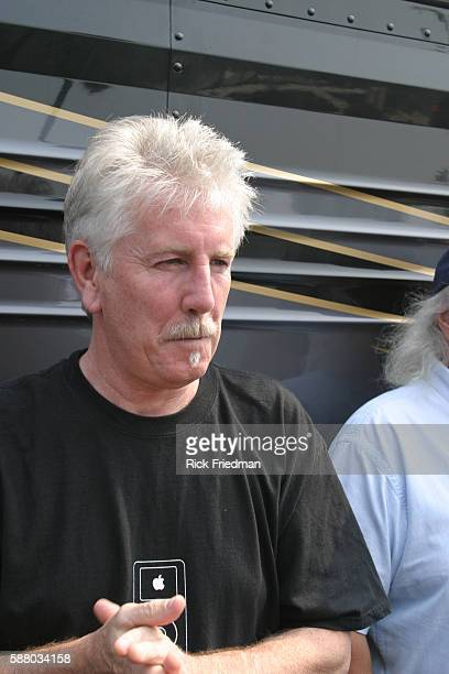 Graham Nash shows support for Howard Dean campaigning at a softball game between the campaign staffs of Howard Dean Dick Gephardt John Kerry and...
