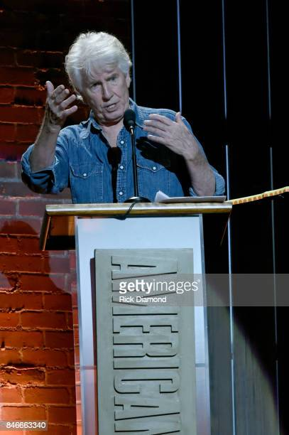 Graham Nash speaks onstage during the 2017 Americana Music Association Honors Awards on September 13 2017 in Nashville Tennessee