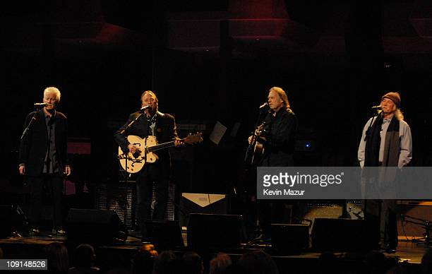 Graham Nash Stephen Stills Neil Young and David Crosby of Crosby Stills Nash and Young