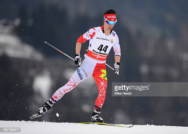 Graham Nishikawa of Canada in action during the Men's Cross Country Individual 15km at the FIS Nordic World Ski Championships on February 27 2013 in...