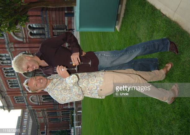 Graham Norton and Christian Seber during Sunday Times Style 2005 Summer Party at VA Museum in London Great Britain