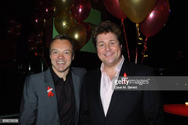 Graham Norton and Michael Ball attend the Whatsonstagecom Theatregoers' Choice Awards lunchtime launch ceremony and party at the London Hippodrome on...