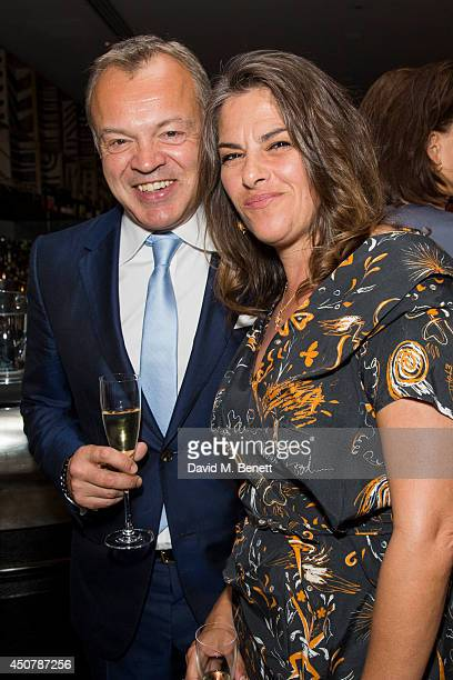 Graham Norton and Tracey Emin attend the GQ dinner to celebrate London Collections Men SS15 at Ham Yard Hotel on June 17 2014 in London England