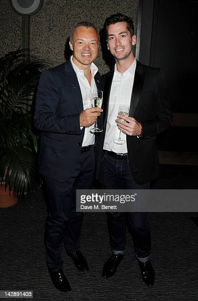 Graham Norton and Trevor Patterson attend an after party celebrating the press night performance of the Sydney Theatre Company's production of 'Big...