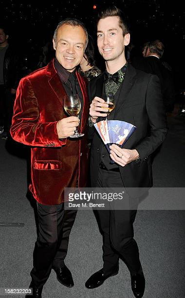 Graham Norton and Trevor Patterson attend an after party celebrating the Gala Press Night performance of 'Viva Forever' at Victoria Embankment...