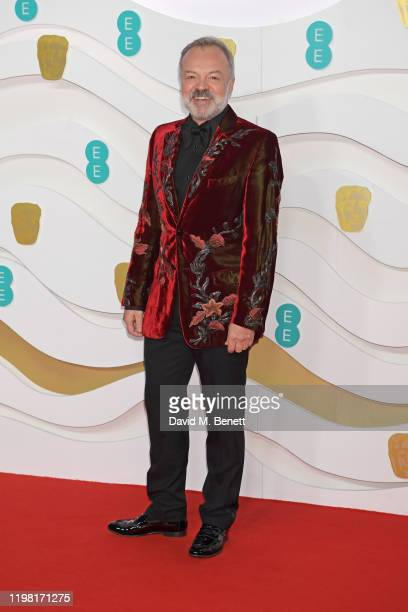 Graham Norton arrives at the EE British Academy Film Awards 2020 at Royal Albert Hall on February 2, 2020 in London, England.