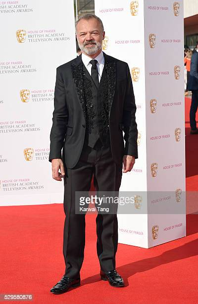 Graham Norton arrives for the House Of Fraser British Academy Television Awards 2016 at the Royal Festival Hall on May 8, 2016 in London, England.