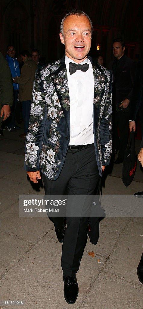 Graham Norton attending the Attitude Magazine Awards on October 15, 2013 in London, England.
