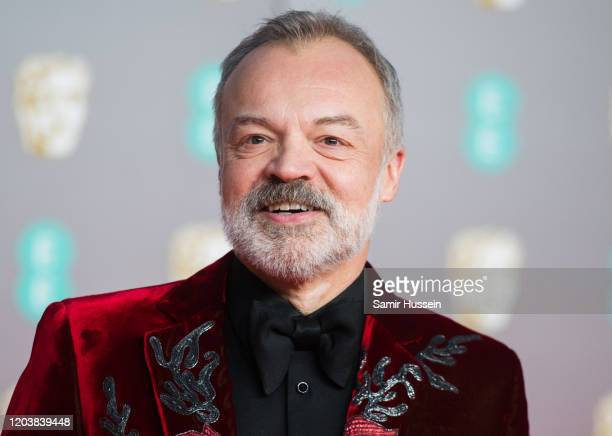 Graham Norton attends the EE British Academy Film Awards 2020 at Royal Albert Hall on February 02, 2020 in London, England.