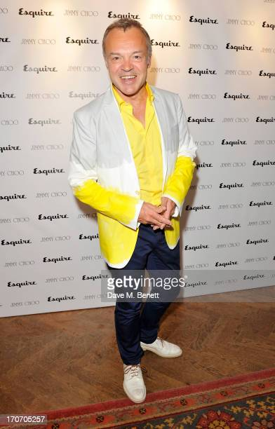 Graham Norton attends the Jimmy Choo Esquire London CollectionsMen opening night party at Loulou's 5 Hertford Street on June 16 2013 in London England