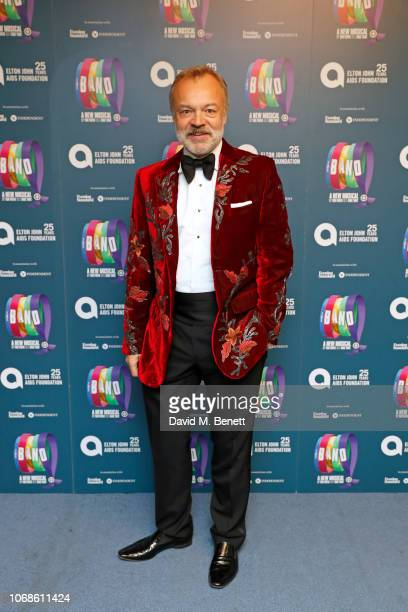 Graham Norton attends the Opening Night Gala of The Band to benefit the Elton John AIDS Foundation supported by The Evening Standard at Theatre Royal...