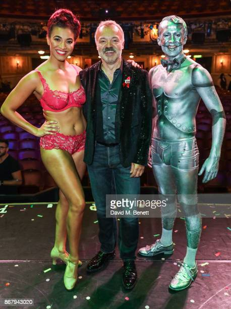 Graham Norton attends West End Bares 2017 Ruby Strippers in support of the Make A Difference Trust at The Novello Theatre on October 29 2017 in...