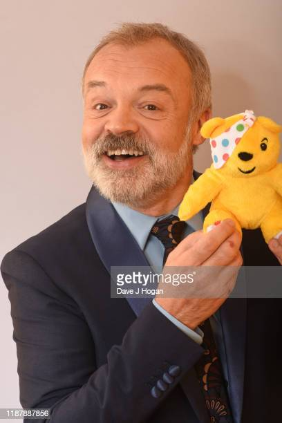 Graham Norton backstage at BBC Children in Need's 2019 Appeal night at Elstree Studios on November 15 2019 in Borehamwood England