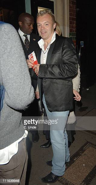 Graham Norton during Guys and Dolls Press Night After Party at Wardour Street in London Great Britain