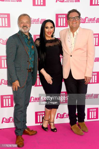 Graham Norton Michelle Visage and Alan Carr attend Ru Paul's Drag Race UK at on September 17 2019 in London England