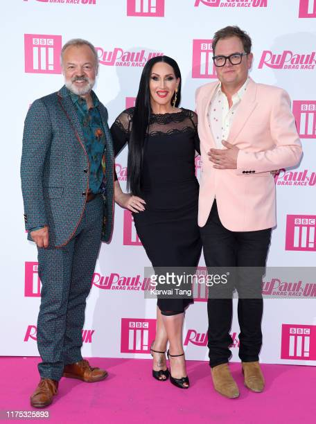 Graham Norton Michelle Visage and Alan Carr attend the Ru Paul's Drag Race UK Launch on September 17 2019 in London England