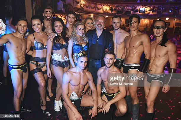 Graham Norton poses with performers at 'West End Bares 2016 Excalibare' in support of the Make A Difference Trust at The Novello Theatre on September...